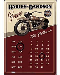 Postkaart-kalender metallist 10x14,5cm / Harley-Davidson