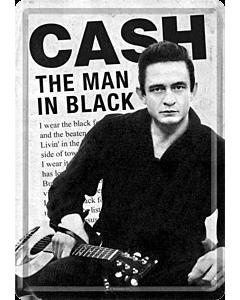 Postkaart metallist 10x14.5cm / Cash The Man in Black