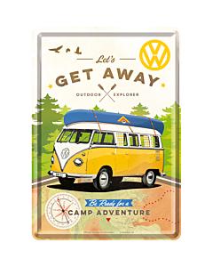 Postikortti 10x14 cm / VW Let's get away