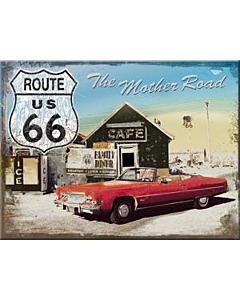 Magnet 6x8cm / Route 66 Punane Auto