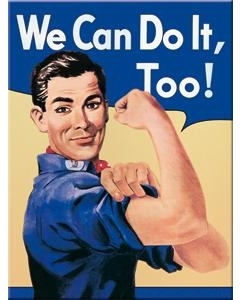 Magnet 6x8cm / We Can Do It, Too! / LM