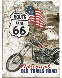 Magnet 6x8cm /Route 66 National Old Trails Road