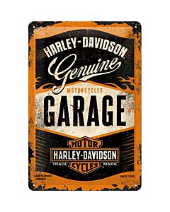 Metallplaat 20x30cm / Harley-Davidson Garage