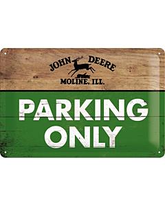 Metallplaat 20x30 / John Deere Parking Only