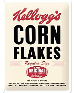 Metallplaat 30x40cm / Kellogg's Corn Flakes The Original