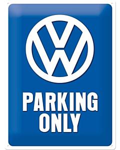 Metallplaat 30x40cm / VW Parking Only