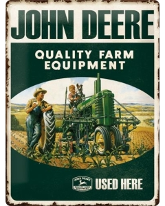 Metallplaat 30x40cm / John Deere Quality Farm Equipment
