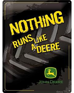 Metallplaat 30x40cm / John Deere Nothing runs like a deere