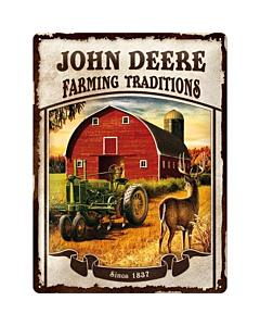 Metallplaat 30x40cm / John Deere Farming Traditions