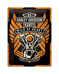 Kilpi 30x40cm / Harley-Davidson Wild at Heart