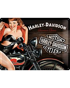 Kilpi 30x40cm / Harley-Davidson Biker Babe