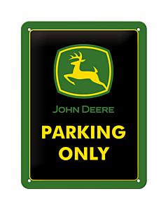 Metallplaat 15x20cm / John Deere Parking Only