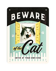 Kilpi 15x20cm / Beware of the Cat