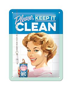 Kilpi 15x20cm / Please, keep it clean