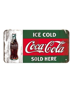 Kilpi 10x20cm / Coca-Cola Ice cold sold here