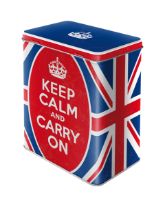 Metallpurk / L / Keep Calm and Carry On