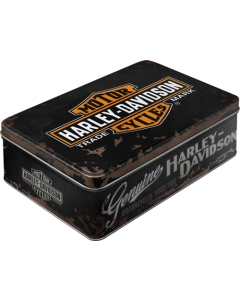 Metallkarp / flat 3D Harley-Davidson logo