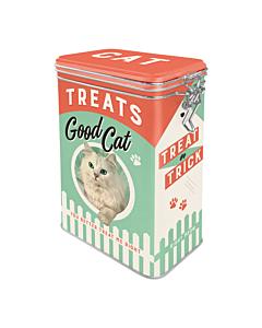 Säilytyspurkki klipsillä Cat Treats Good Cat