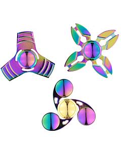 Näpuvurr Fidget Spinner, metallist, vikerkaarevärvides