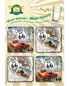Retro klaasialused / 4tk / Route US 66 /LM