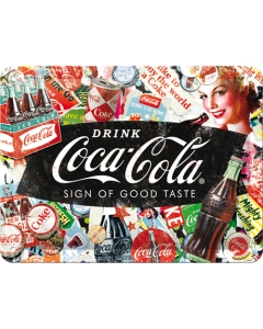 Metallplaat 15x20cm / Coca-Cola Collage