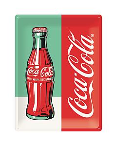Metallplaat 30x40cm / Coca-Cola Pullo Pop Art