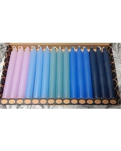 Küünlad 20x150 / erinevad värvid / 15tk / kinkekarbis / LM