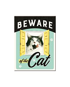 Magnet 6x8cm / Beware of the Cat / LM
