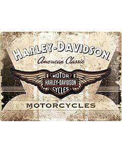 Metallplaat 30x40cm / Harley-Davidson Motorcycles