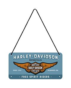Kilpi 10x20cm / Harley-Davidson Riders Only