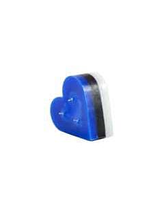 Küünal väike süda / 12cm / sini-must-valge / LM