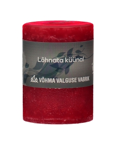 Lõhnata küünal 55x75mm / 23h / punane