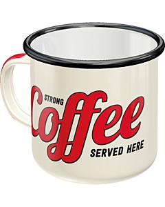Plekk-kruus / Strong coffee served here