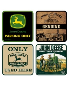 Retro klaasialused / 4tk / John Deere Quality Farm Equipment