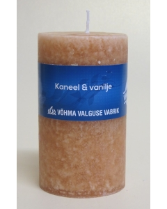 Lõhnaküünal 60x90mm / 40h / silinder / Kaneel & Vanilje