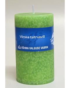 "Lõhnaküünal ""Votiivküünal"" 40x50 / 11h / silinder / Värske tsitrusvili"