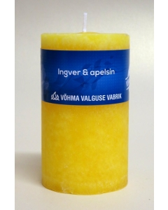 Lõhnaküünal 55x120 / 36h / silinder / Ingver ja Apelsin / LM