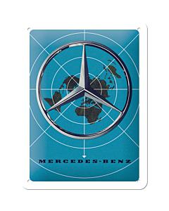 Metallplaat 15x20cm / Mercedes-Benz logo ja kartta