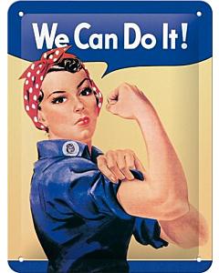Metallplaat 15x20cm / We can do it!