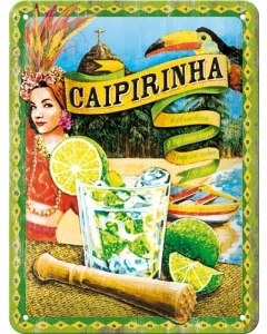 Metallplaat 15x20cm / Caipirinha