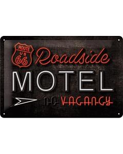 Metallplaat 20x30cm / Route 66 Roadside Motel