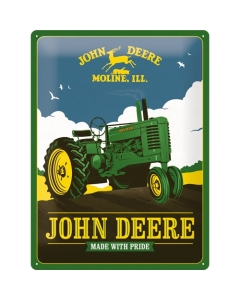 Metallplaat 30x40cm / John Deere - Made With Pride