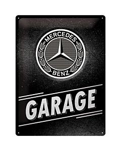 Metallplaat 30x40cm / Mercedes-Benz - Garage