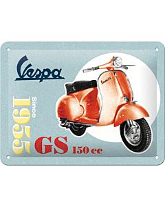 Metallplaat 15x20cm / Vespa GS 150 Since 1955