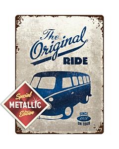 Metallplaat 30x40cm / VW Bulli The Original Ride Metallic